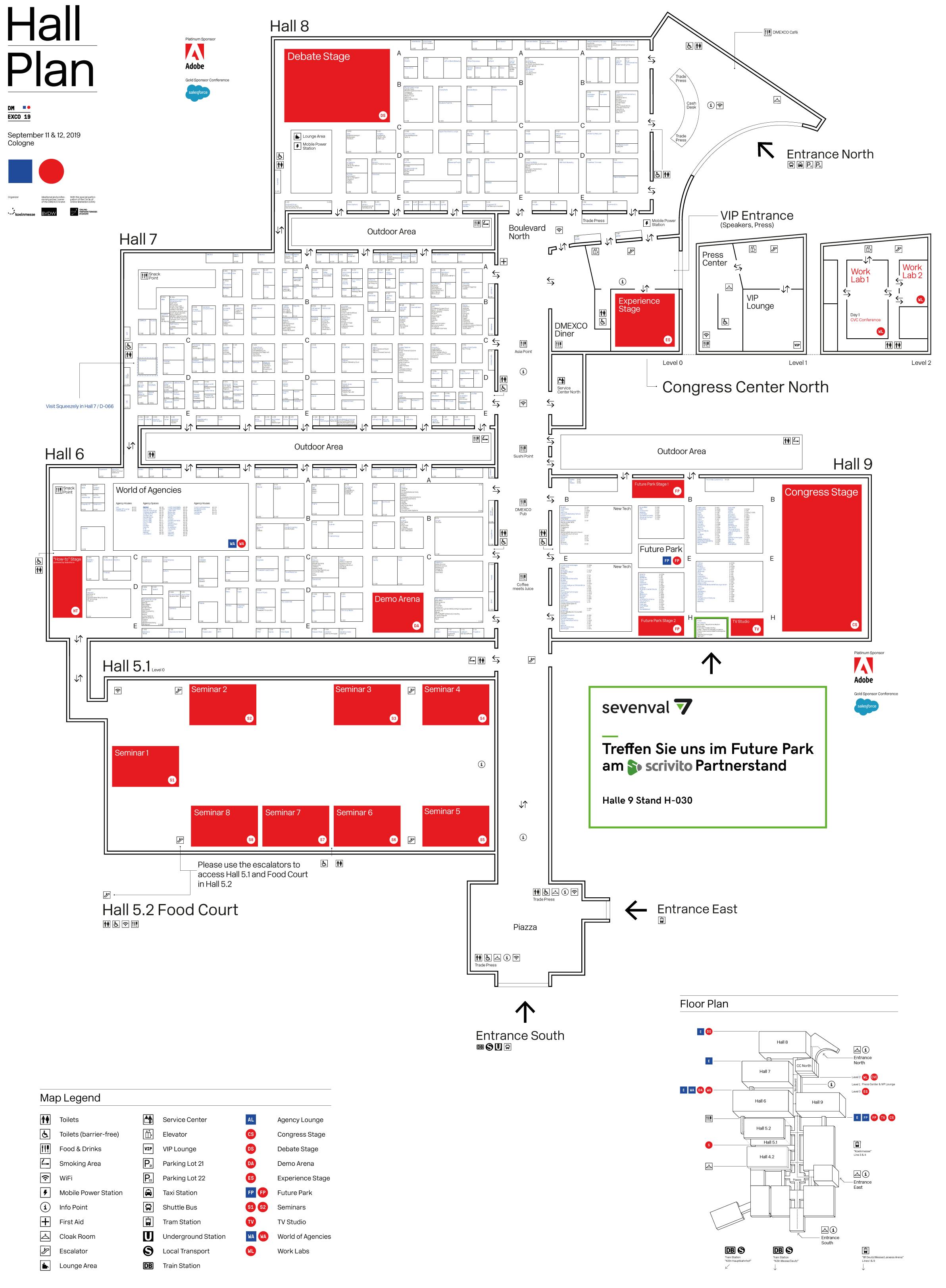 DMEXCO 2019 Hallenplan